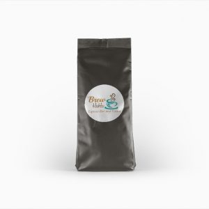 mockup coffee bag for Brew Ha Ha